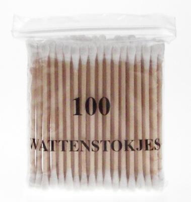 Wattenstaafjes Hout - 100 stuks