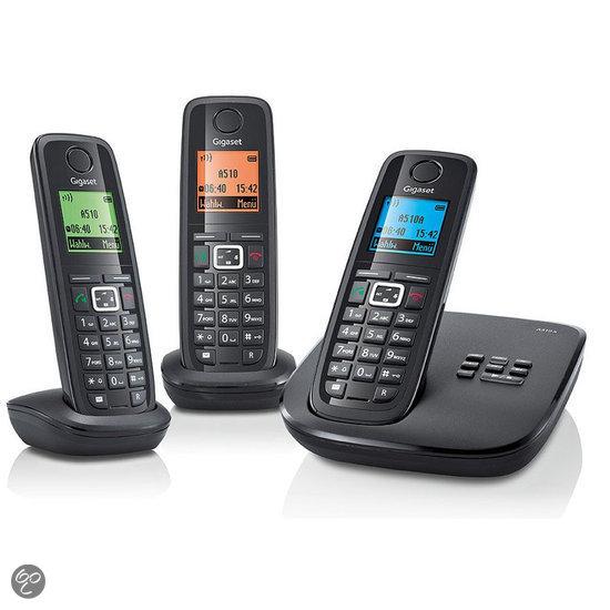Gigaset A510A - Trio DECT telefoon met antwoordapparaat - Zwart