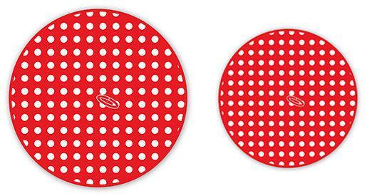 Jorzolino Set Keuken- & Theedoek stip rond rood