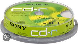 Sony CD-R 80min/700MB 48x 10 stuks op spindel