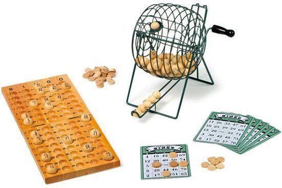 Luxe bingo spel hout in Oostdorp