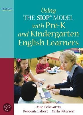 Using the SIOP Model with pre-K and Kindergarten English Learners