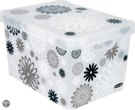 Curver decobox stockholm opbergbox 25 l kunststof black daisy koken - Deco klassiek koken ...