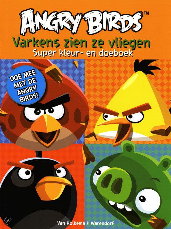 Angry birds super kleur- en doeboek