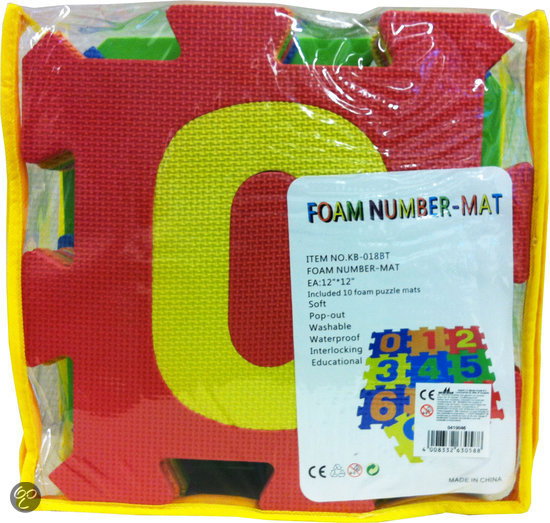 Foam puzzel Matten Nummer