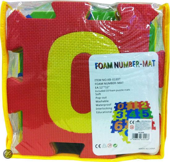 Foam puzzel Matten Nummer