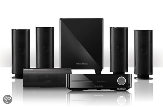 Harman/Kardon, BDS 870 5 x 65W 5.1-ch integrated home theater system with 3-D Blu-Ray, HKTS 60