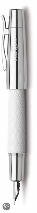 Faber Castell vulpen E-motion Guilloche Rhombus wit M in Roosendaal