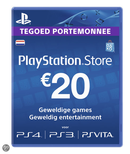 Sony PlayStation Network Voucher Card 20 Euro NL - PS4 + PS3 + PS Vita + PSN