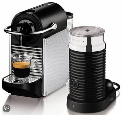 Magimix Nespresso Apparaat  La M110  Pixie + Aeroccino 3 Melkopschuimer - Zilver