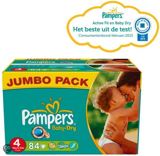 Pampers Baby Dry - Luiers Maat 4 - Jumbo Pack plus 84st