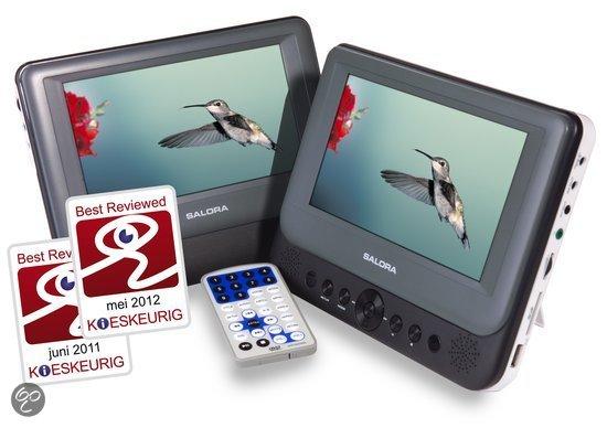 Salora DVP7048TWIN - Portable DVD-speler met 2 schermen - 7 inch