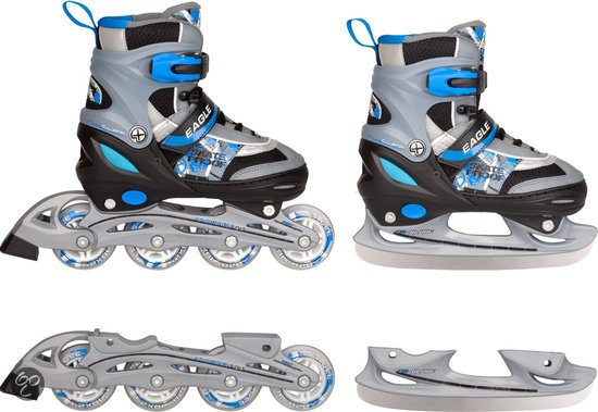 Inline Skate Combo Blauw - Maat 34-37