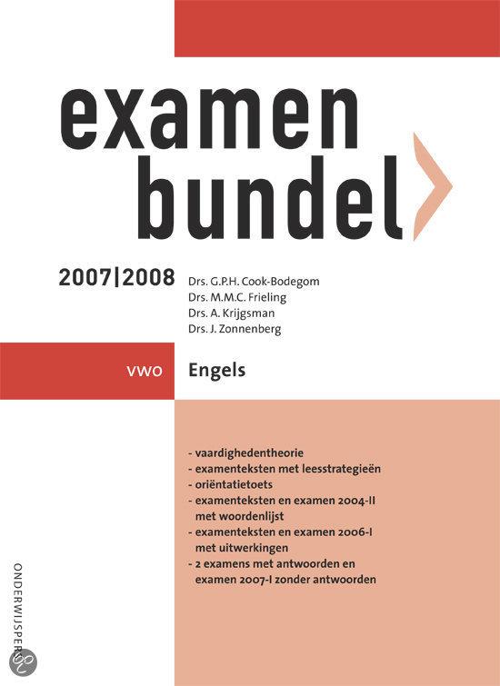 Examenbundel Vwo Engels