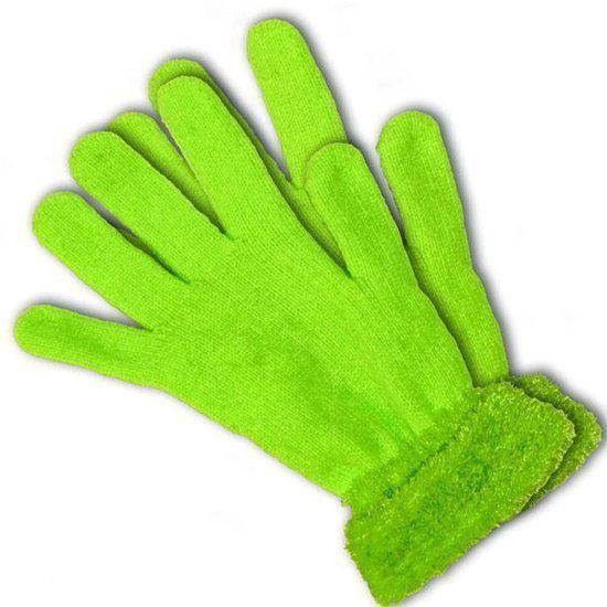 Uniek speelgoed vandaag speciale neon groene handschoenen - Groene warme of koude kleur ...