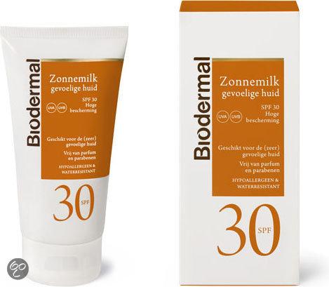 zonnebrand voor gevoelige huid