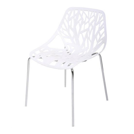 Butik forest stoel wit set van 2 for Design stoel wit