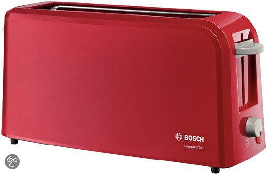 Rode Keukenapparaten : bol.com Bosch Broodrooster CompactClass Lang TAT3A004 – Rood