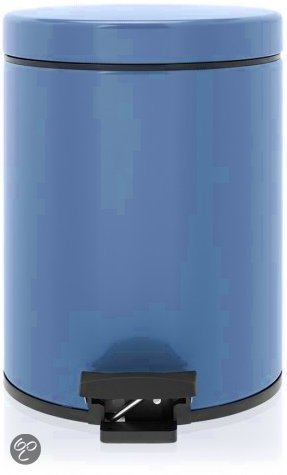 Brabantia Classic Pedaalemmer met kunststof binnenemmer - Rond - 5 l - Vintage Blue