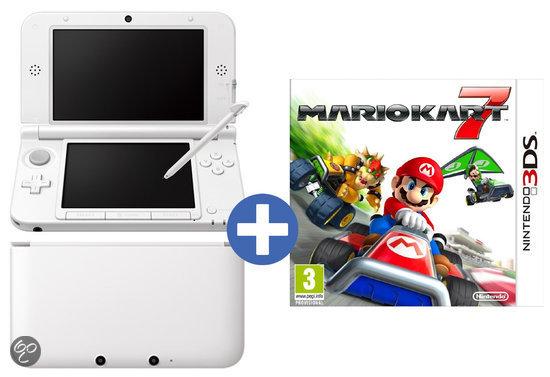 Nintendo 3DS XL Wit + Mario kart 7