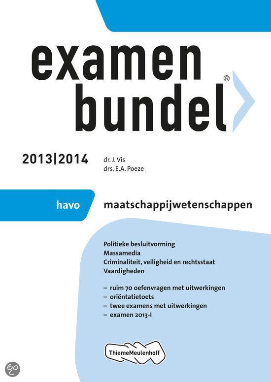 Examenbundel havo maatschappijwetenschap  / 2013/2014