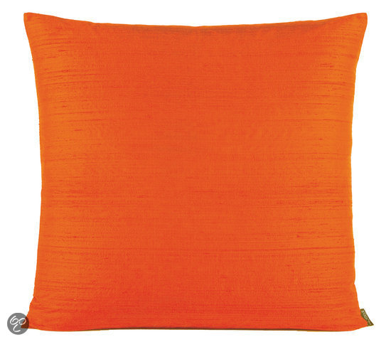 bolcom mtx cushion dupion silk new orange 50x50