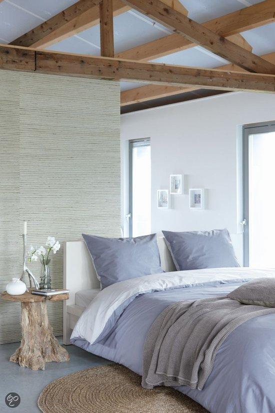 walra uni dekbedovertrek blauw lits jumeaux 240x200 220 cm 2 slopen. Black Bedroom Furniture Sets. Home Design Ideas