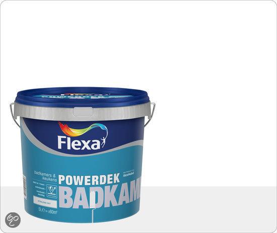 bol com  Flexa Powerdek Muurverf  Badkamers & Keukens  5 liter