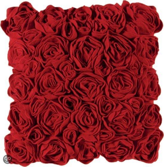 bol.com : Aquanova Rose Kussen - 59 Rood - 45x45cm : Wonen