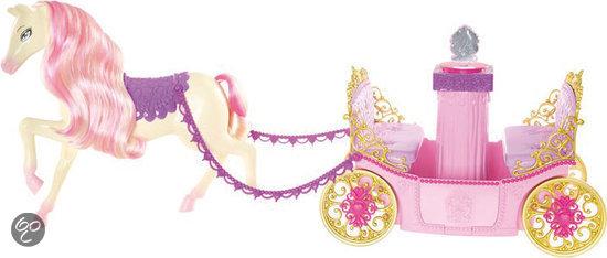 Barbie Princess Charm School Koets met Paard