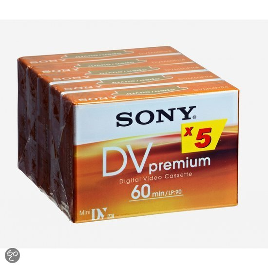 MINI DV CAMERA TAPE 60MIN 5PK PREMIUM