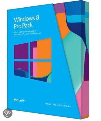Microsoft Windows Pro Pack 8 - Nederlands / 32-bit/64-bit / PUP Medialess / Win to Pro MC