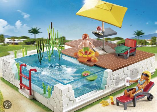 Playmobil zwembad met terras 5575 playmobil speelgoed - Terras met zwembad ...