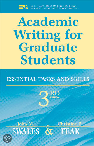 graduate academic writing Amazoncom: academic writing for graduate students, second edition: essential tasks and skills (michigan series in english for academic & professional purposes.
