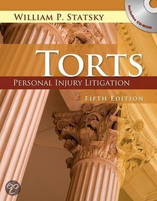 Torts Personal Litigation William Statsky dp