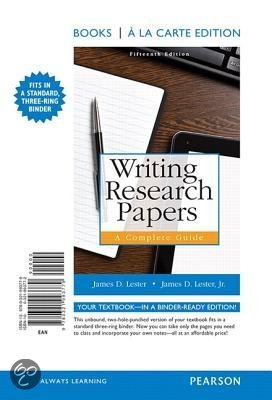 james lester writing research papers a complete guide