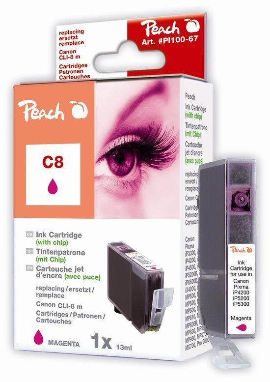 Peach  C8 Inktcartridge - Magenta