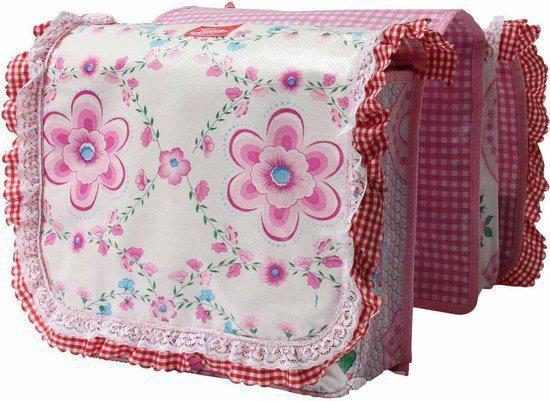 Fietstas Roze : Bol mix mamas roesjes jardin dubbele fietstas roze