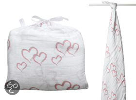 Aden + Anais - Single Swaddle (inbaker)doek - Sweet Heart