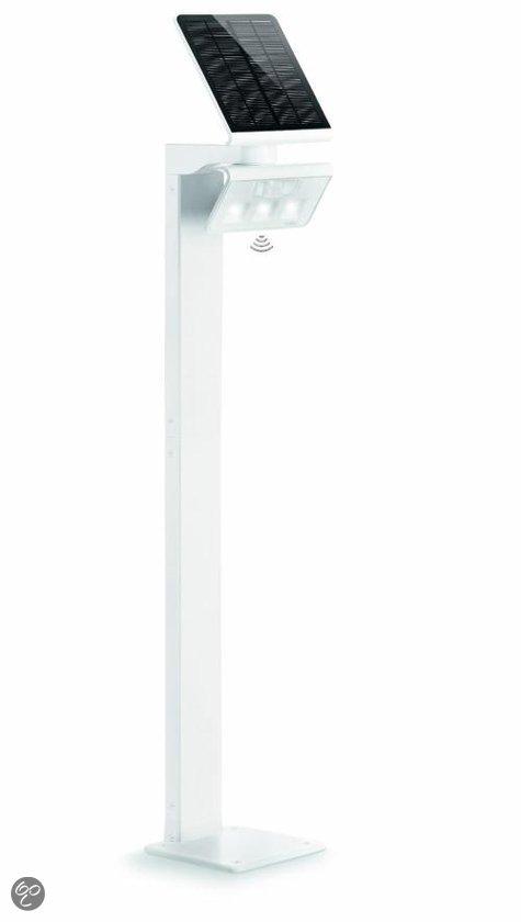 Steinel zuil xsolar gl s wit sensorlamp op zonne energie klussen - Kleine zonne lamp ...