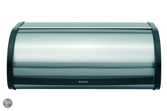 Brabantia Broodtrommel met Schuifdeksel - Matt Steel Fingerprint Proof