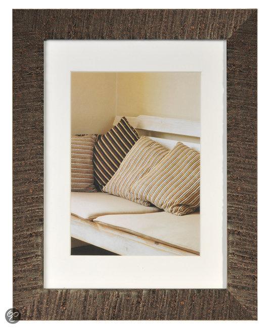 henzo driftwood fotolijst fotomaat 18x24 cm donker bruin wonen. Black Bedroom Furniture Sets. Home Design Ideas