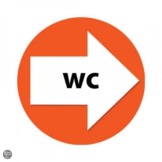 Wegwijzer setje wc oranje speelgoed - Wc oranje ...