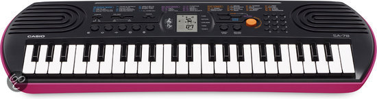 Casio SA-78 Keyboard Pink Casing Base 44 Mini Toetsen