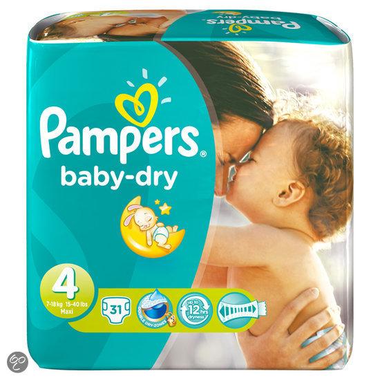 pampers baby dry maat 4 midpak 31 stuks. Black Bedroom Furniture Sets. Home Design Ideas
