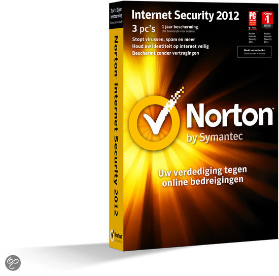 Symantec Norton Internet Security - 2012 / 3 gebruikers / Nederlands / 1 jaar / WIN