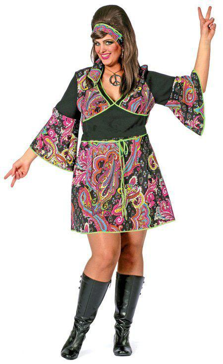 Hippie jurk (grote maten) Maat 48