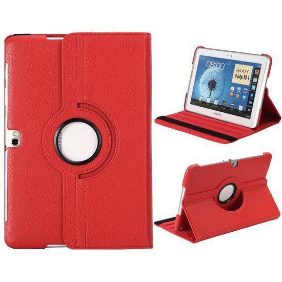 Rode Keukenapparaten : bol.com Rode 360 graden lederen hoes Samsung Galaxy Note 10.1 (N8000