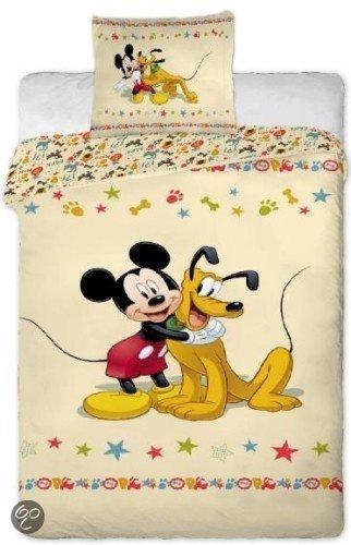 bol com   Disney Dekbed Dekbedovertrek mickey mouse en pluto 140 x 200 cm   Wonen