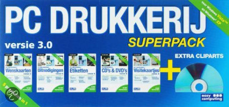 Easy Computing Pc Drukkerij Superpack 4 - DVD-Rom